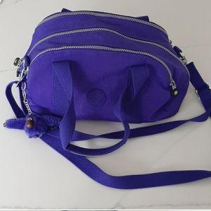 Purple Kipling 3 zipper bag